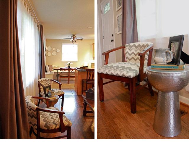 A First Time For Everything Chevron Living Room Chair Redo Allpreciousandpleasant